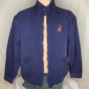 Vintage Lee Cleveland Indians Jacket L Navy